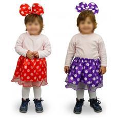 529917 Costume Di Carnevale Da Topina Gonna E Orecchie Da Bambina Da 2 A 4 Anni - Viola