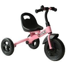 Triciclo In Metallo Con Campanello E Parafango, Rosa