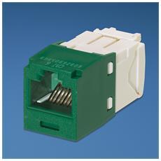 UTP RJ-45 MiniJack kat6, green / white Bianco cavo di interfaccia e adattatore