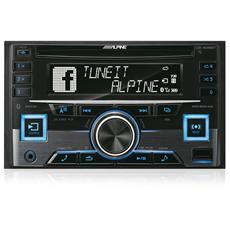 ALPINE - Sintolettore CD CDE-W296BT Supporto MP3 / WMA / AAC 4x50Watt porta USB ingresso AUX Bluetooth 2DIN