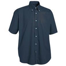 Camicia Manica Corta Con Taschino In Cotone Colore Blu Taglia 2xl