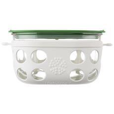 , Contenitore Per Alimenti In Vetro Bianco / verde 950 Ml