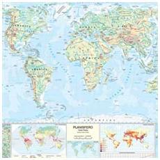 pz. 1 Carta Geografica MuraleMONDO MS02PL