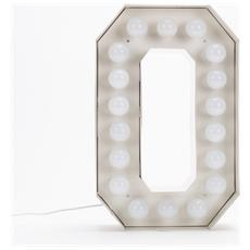 Lampada Lettera O in Metallo con Lampadine LED Altezza 60cm - Linea Vegaz