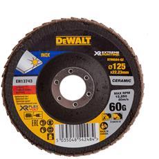 Disco Lamellare Ceramico Xr Flexvolt Per Materiali Ferrosi Diametro 125 Mm - Grana 60