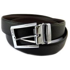 cintura in pelle '' nero - 110 cm 30 mm - [ n9071]
