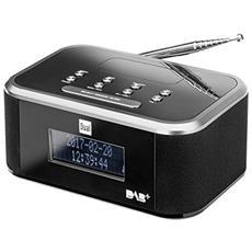 DAB CR 28 Orologio Analogico e digitale Nero, Argento radio