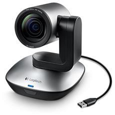 PTZ Pro Camera Sensore CCD HD Zoom 10x USB colore Grigio