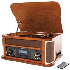 Giradischi Retrò TT-44 BT USB / CD / MP3 / Cassetta Radio AM / FM