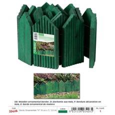 Bordo Ornamentale Per Giardino Legno Verde (''h'' 18 Cm)