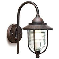 05-9104-18-m2-lampada Con Sirena 1xe27 Max. 60 W, Colore: Marrone Ruggine