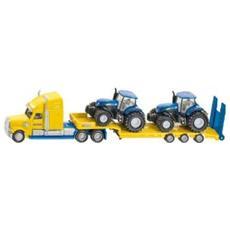 DieCast 1:87 Camion con Rimorchio con 2 Trattori New Holland 1805