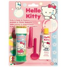 Bolle di plastica Baloo Ball + Bolle di sapone Hello Kitty 212000