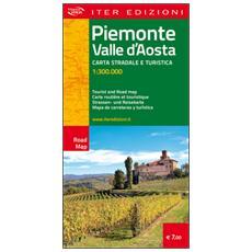 Piemonte e Valle d'Aosta. Carta stradale e turistica 1:300.000. Ediz. multilingue