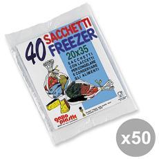 Set 50 Freezer Bustina 20x35 X 40 Pz Contenitori Per La Cucina