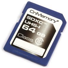 64GB SDHC, SDXC, -25 - 75 °C, Blu, -30 - 75 °C, Class 10, 2.7, 3.6 V