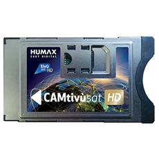 Cam Tivùsat HD + Tessera Tivùsat HD compatibile con Slot CI / CI+