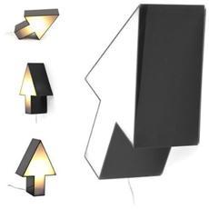 Arrow lampada da tavolo e da muro a forma di freccia nero e bianco