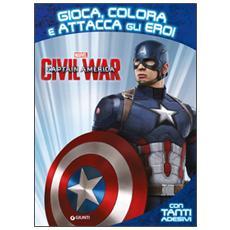 Captain America. Civil War. Gioca colora attacca eroi. Con adesivi