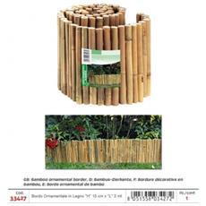 Bordo Ornamentale Per Giardino In Legno Bamboo ''l'' 3 Mt
