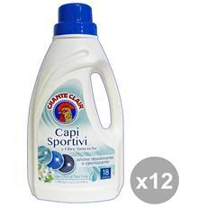 Set 12 Bucato Capi Sportivi-sintetici 900 Ml. Detergen