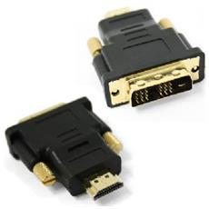 HDMI - DVI, M / F, HDMI, DVI, Maschio / femmina, Nero, Oro, ISO 9002