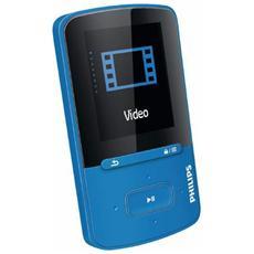 """Lettore Mp3 / Mp4 GoGEAR Vibe SA4VBE04BN / 12 4 Gb porta USB Display 1,8"""" Colore Blu"""