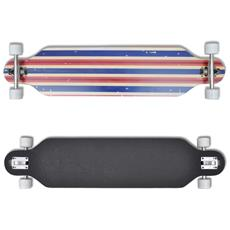 Longboard Skateboard Star 107 Cm 9 Strati In Acero 22,5 Truck Blu