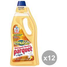 Set 12 Pavimenti Ravviva Parquet 750 Ml. Detergenti Casa