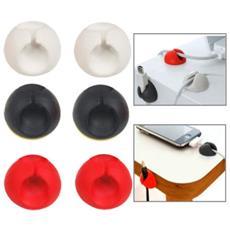 Set 6 X Cable Clips Ferma Cavo Ferma Filo Porta Penna Raccogli Cavi Adesivo Supporto Colore Casuale