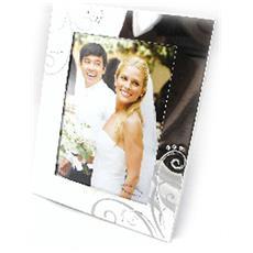 cornici portafoto 'romance' argentato - [ f9107]