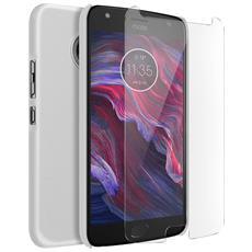 Cover Motorola Moto X4 - Kit Protezione Bianco + Pellicola Schermo Nillkin