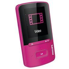 """Lettore Mp3 / Mp4 GoGEAR Vibe SA4VBE04BN / 12 4 Gb porta USB Display 1,8"""" Colore Rosa"""