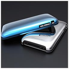 Shine Case Metallico Iphone 2in1pack Silver+blue Kn-5016