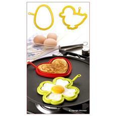 2 forma uovo papera + uovo pratika silicone