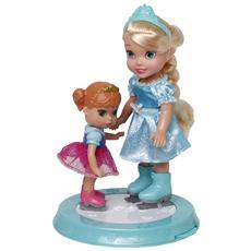 Mini Bambola Elsa ed Anna sulla Pista di Pattinaggio