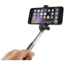 """Asta Selfie Mono per Smartphone fino a 6.3"""" Argento"""