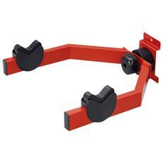 Supporto Da Parete Regolabile Per Bicicletta, Fissaggio Orizzontale - Posizionamento Compatto - Peso Massimo: 20 Kg - 335x335x135 Mm – Colore Rosso