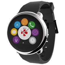"""Smartwatch Zeround Resistente all'acqua IP56 Display 1.22"""" Bluetooth con Pedometro Incluso Nero - Europa"""