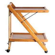 CLIC CLAC Design Dario Tanfoglio Carrello in legno faggio colore ciliegio