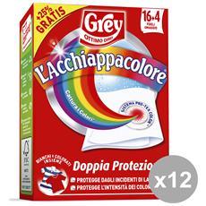 Set 12 Acchiappacolore X 20 Fogli Detergenti Casa