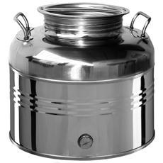 Contenitore in acciaio inox 15 Lt per olio con predisposizione rubinetto