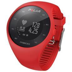 M200 Impermeabile Sportwatch GPS con Cardiofrequenzimetro Integrato per Attività Fisica Colore Rosso