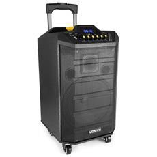 """Cassa Amplificata Attiva Trolley Ricaricabile Batterie 250w 10"""""""" Usb-sd + Bluetooth"""