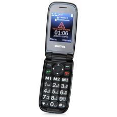Mapa M270D Senior Phone Display 2.4'' +Slot Micro SD Bluetooth con Tasti Grandi + SOS Fotocamera Colore Nero