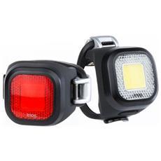 Set Luce Posteriore e Anteriore a LED Colore Nero