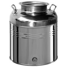 Contenitore in acciaio inox 30 Lt per olio con predisposizione rubinetto