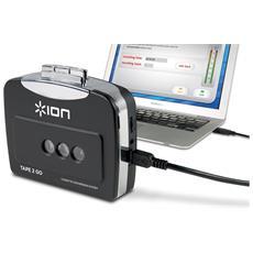 Convertitore di Audiocassette in File Digitali USB Colore Nero e Argento