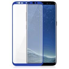 Vetro Temperato 3D Curvo Protezione Schermo da Bordo a Bordo 0,2 mm per Galaxy S8 + (1Pz) Colore Blu