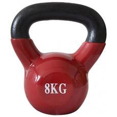 Kettlebell Ghiria Neoprene Rosso Scioltezza Allenamento Muscoli Palestra 8kg